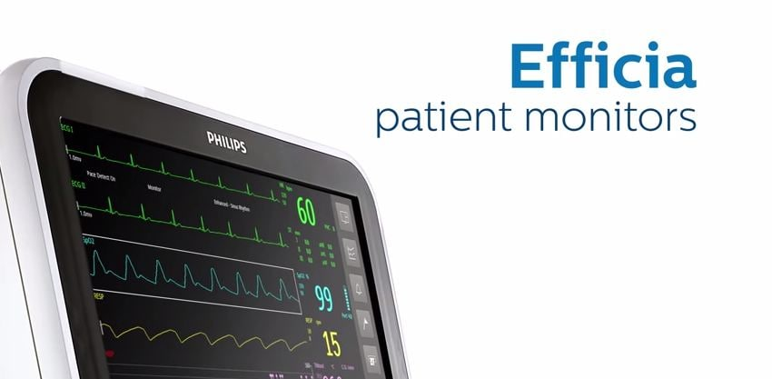 Philips monitores de pacientes Efficia video